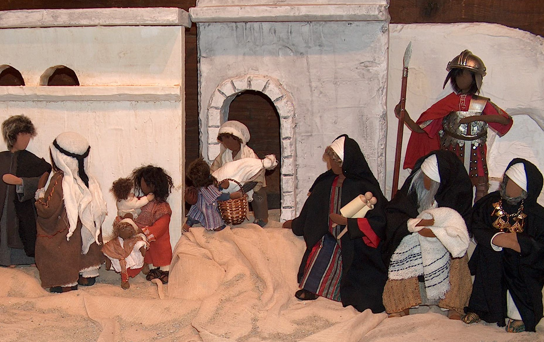 Schriftgelehrte beim Einzug in Jerusalem