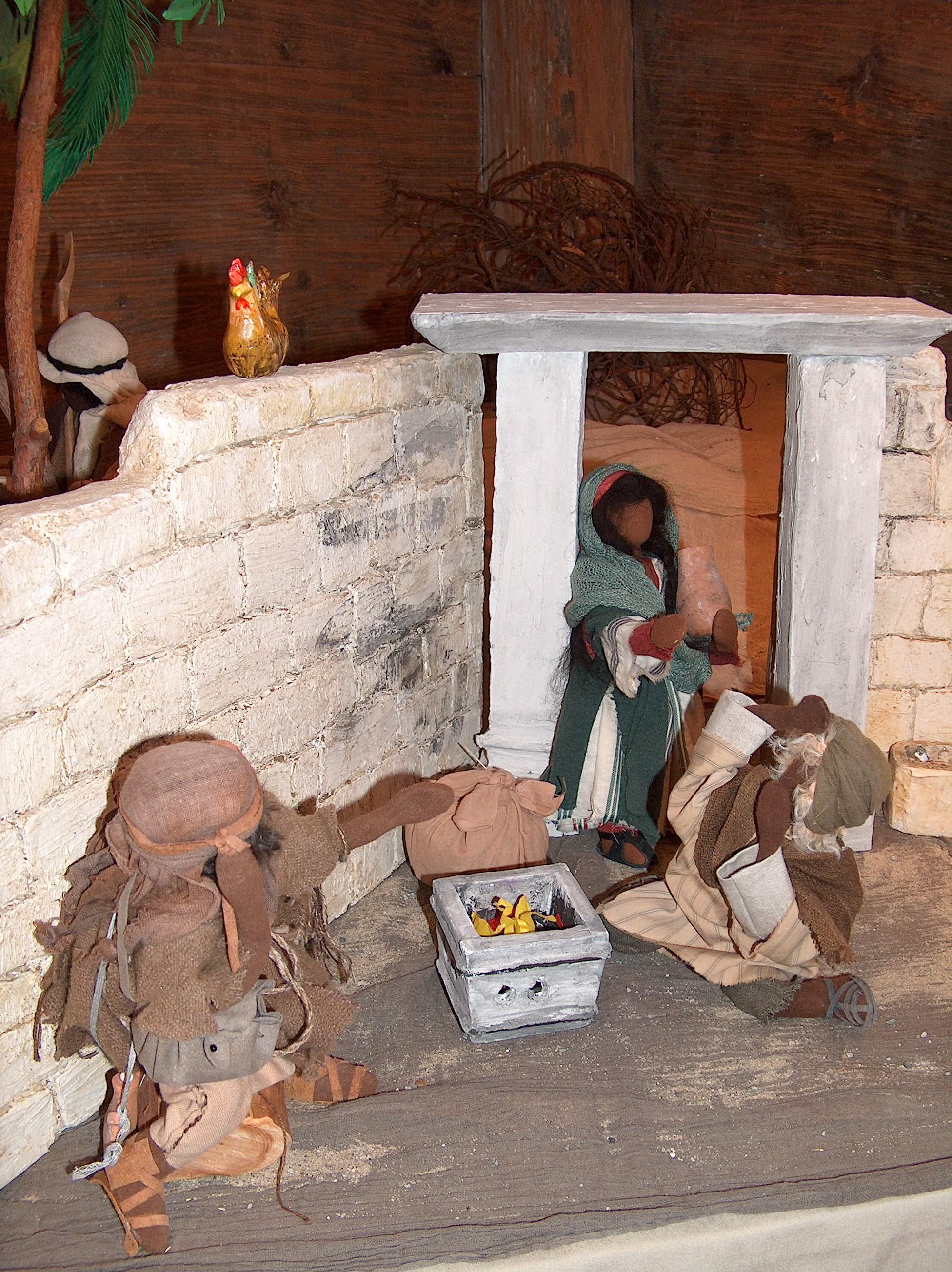 Petrus verleugnet Jesus